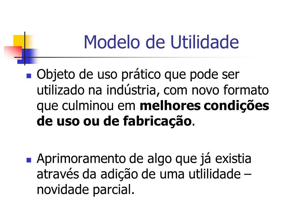 Modelo de Utilidade Objeto de uso prático que pode ser utilizado na indústria, com novo formato que culminou em melhores condições de uso ou de fabric