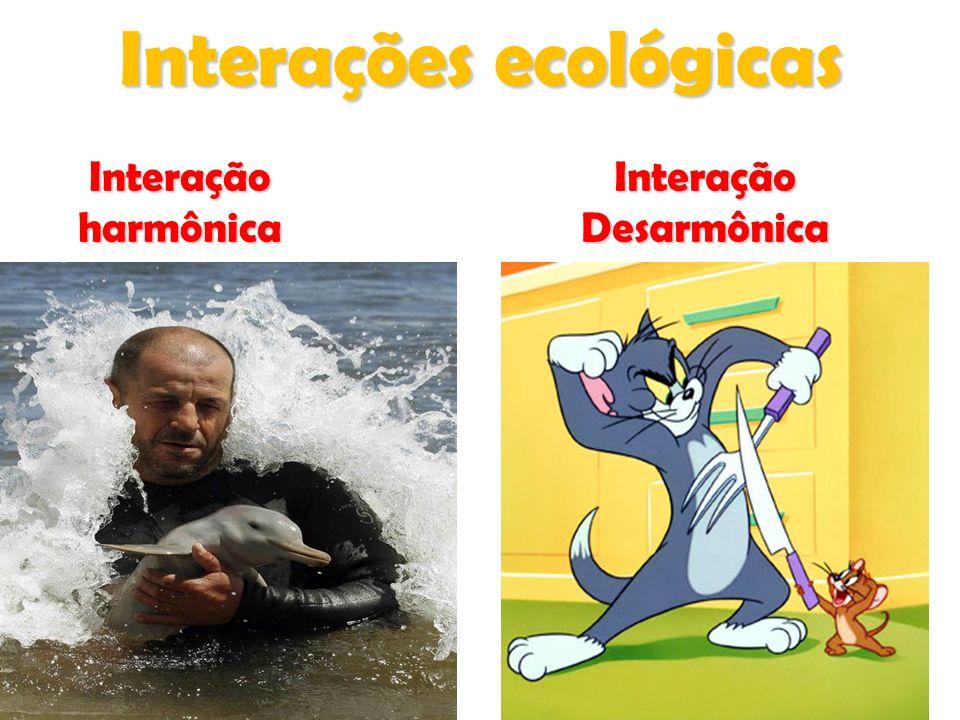 Interações ecológicas InteraçãoharmônicaInteraçãoDesarmônica