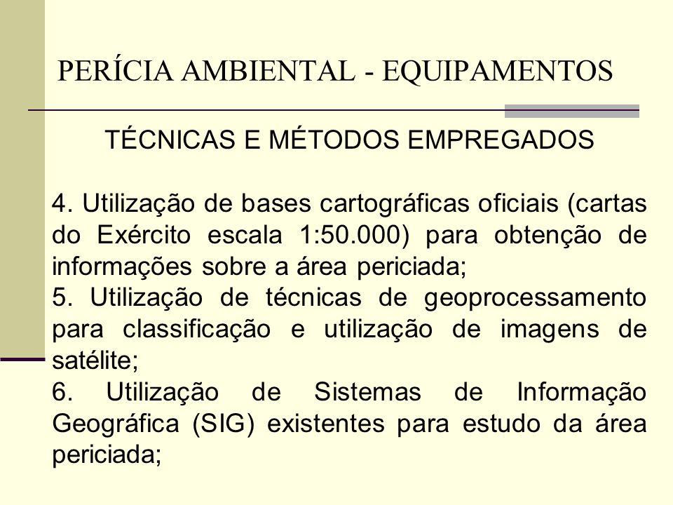TÉCNICAS E MÉTODOS EMPREGADOS 4. Utilização de bases cartográficas oficiais (cartas do Exército escala 1:50.000) para obtenção de informações sobre a
