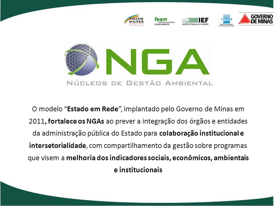 O modelo Estado em Rede, implantado pelo Governo de Minas em 2011, fortalece os NGAs ao prever a integração dos órgãos e entidades da administração pú