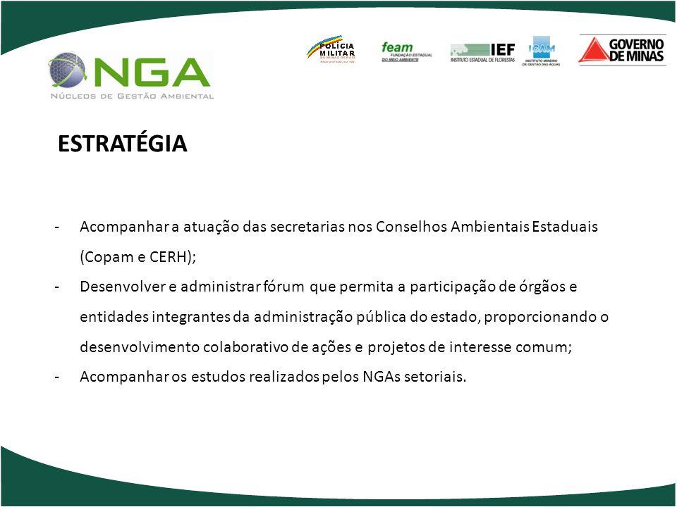 -Acompanhar a atuação das secretarias nos Conselhos Ambientais Estaduais (Copam e CERH); -Desenvolver e administrar fórum que permita a participação d