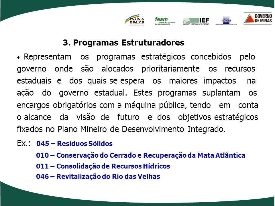 2. Programas Associados Requisito: alinhamento à estratégia definida no PMDI Representam os programas dotados de colaboração sinérgica com os Programa