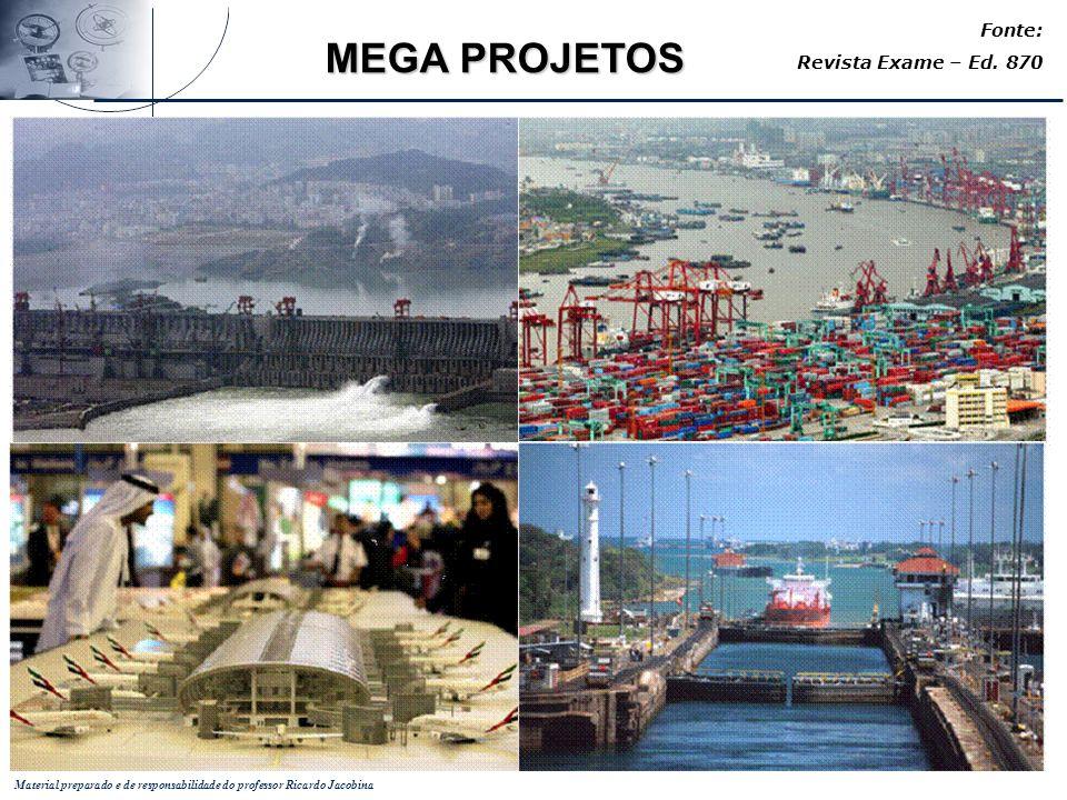 Material preparado e de responsabilidade do professor Ricardo Jacobina MEGA PROJETOS Fonte: Revista Exame – Ed. 870