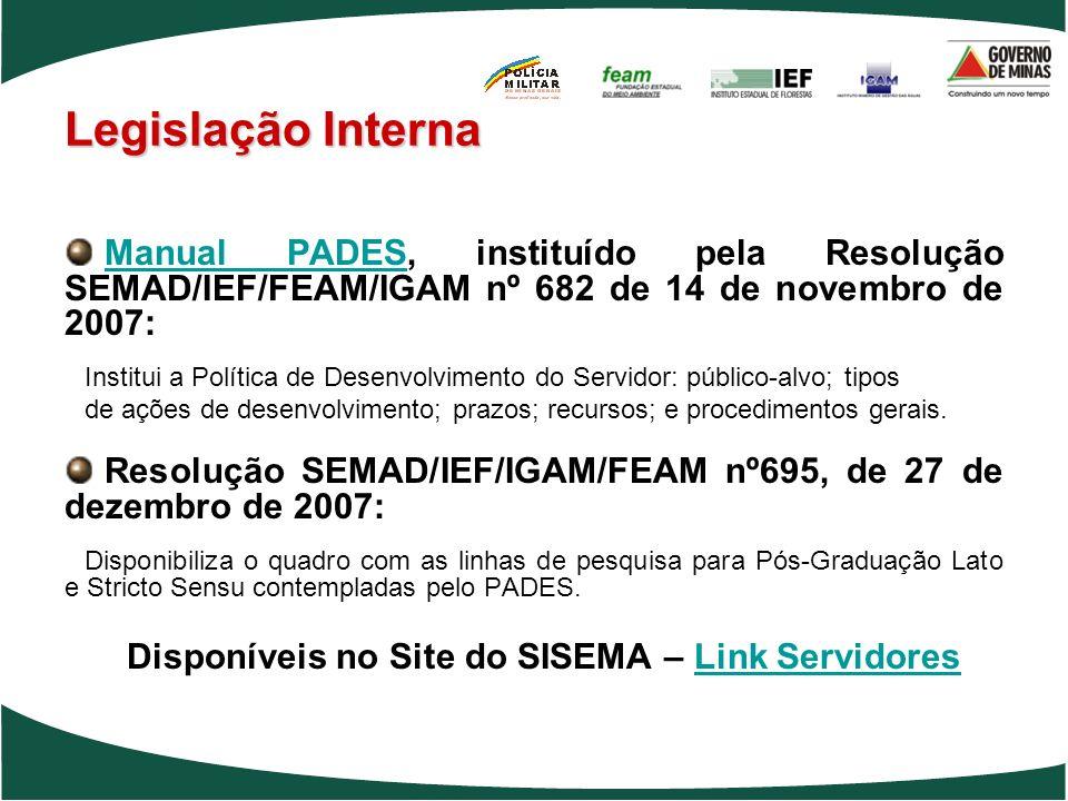 Manual PADES, instituído pela Resolução SEMAD/IEF/FEAM/IGAM nº 682 de 14 de novembro de 2007: Manual PADES Institui a Política de Desenvolvimento do S