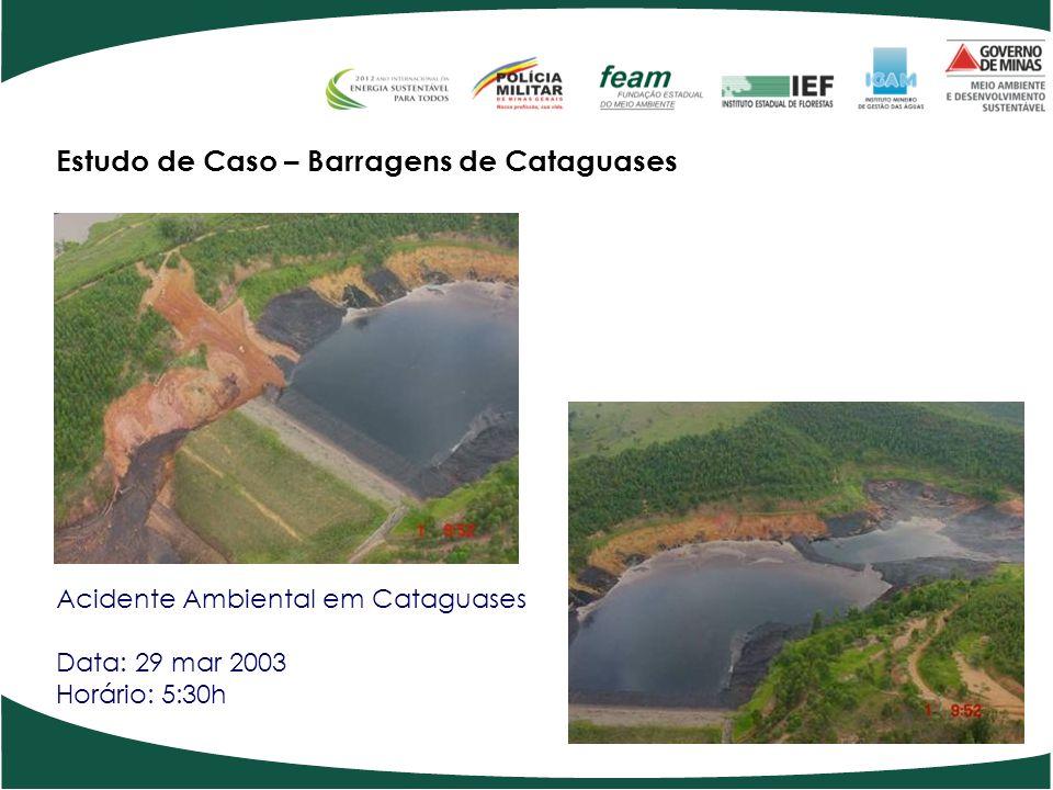 Estudo de Caso – Barragens de Cataguases Acidente Ambiental em Cataguases Data: 29 mar 2003 Horário: 5:30h