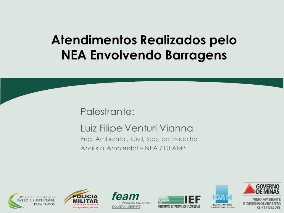 Palestrante: Luiz Filipe Venturi Vianna Eng.Ambiental, Civil, Seg.
