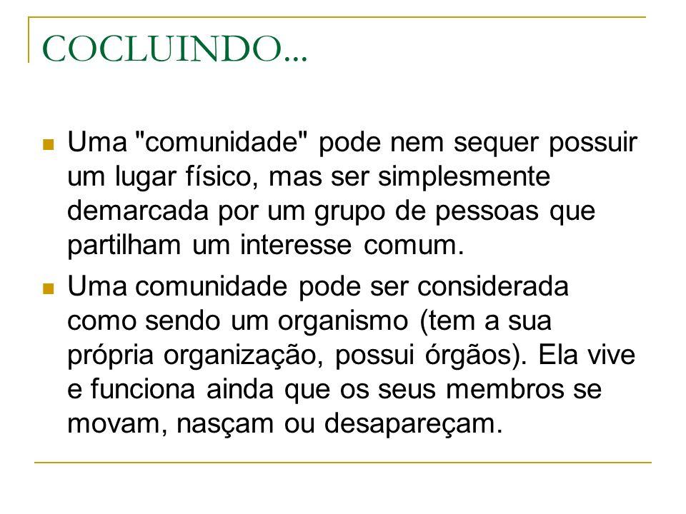 COCLUINDO... Uma