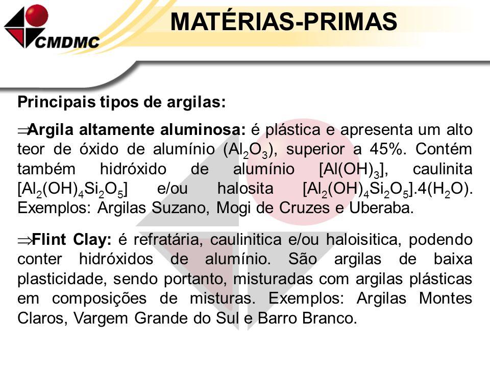 MATÉRIAS-PRIMAS Argilas Definição: material terroso de granulação fina,que geralmente adquire plasticidade quando umidecidos com água. E o que é PLAST