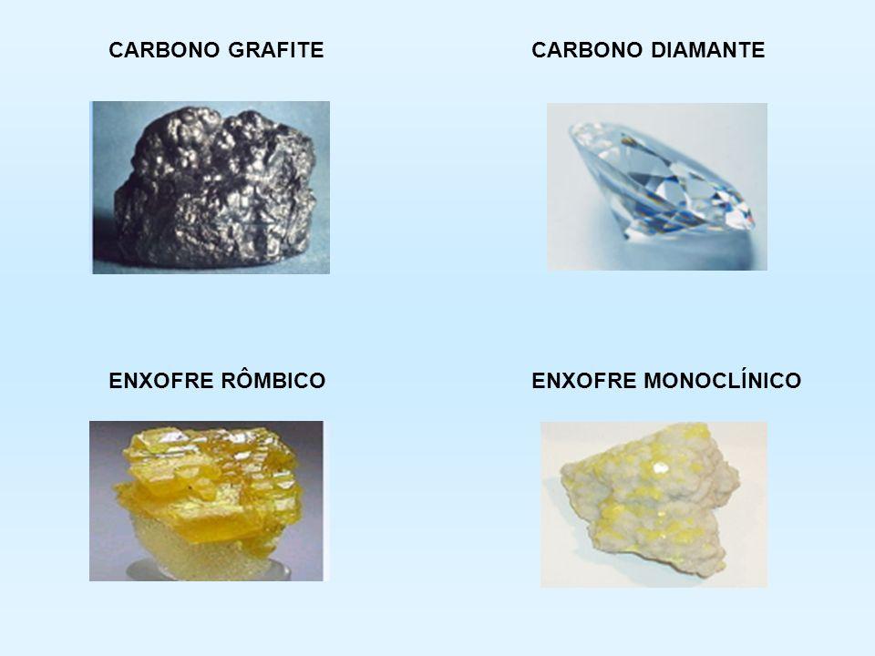ALOTROPIA Mesmo elemento químico formando substâncias simples diferentes