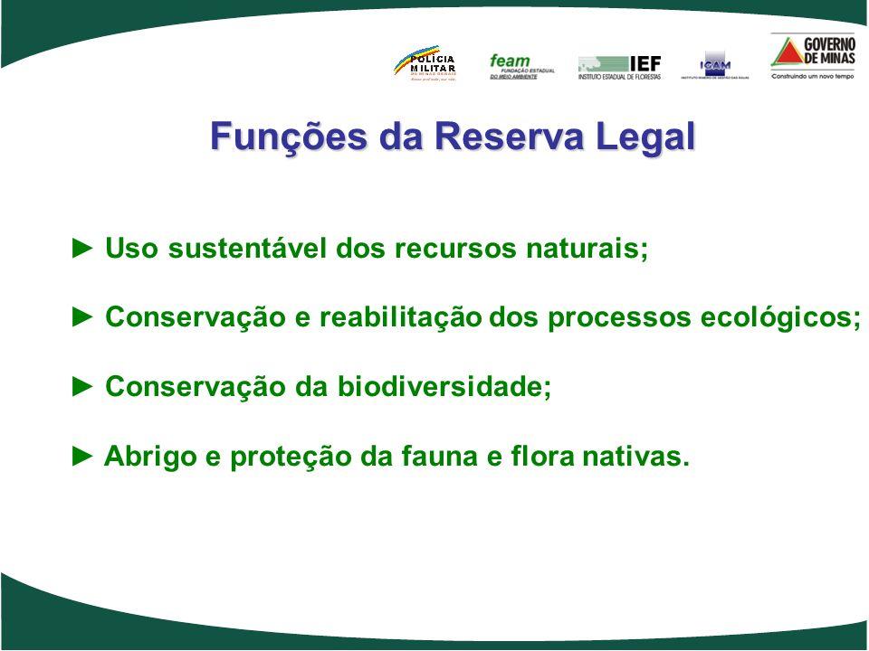Uso sustentável dos recursos naturais; Conservação e reabilitação dos processos ecológicos; Conservação da biodiversidade; Abrigo e proteção da fauna