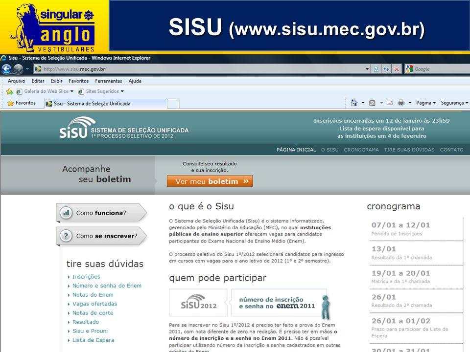 SISU (www.sisu.mec.gov.br) SISU (www.sisu.mec.gov.br)