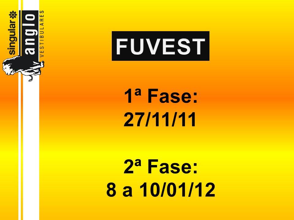 1ª Fase: 27/11/11 2ª Fase: 8 a 10/01/12