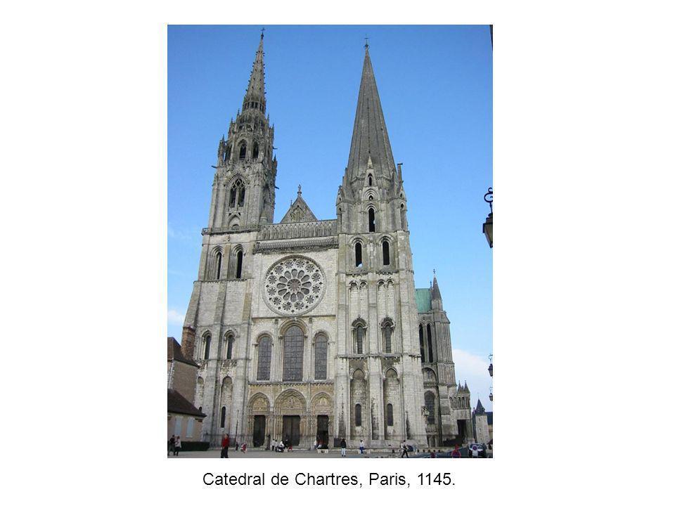 Catedral de Chartres, Paris, 1145.