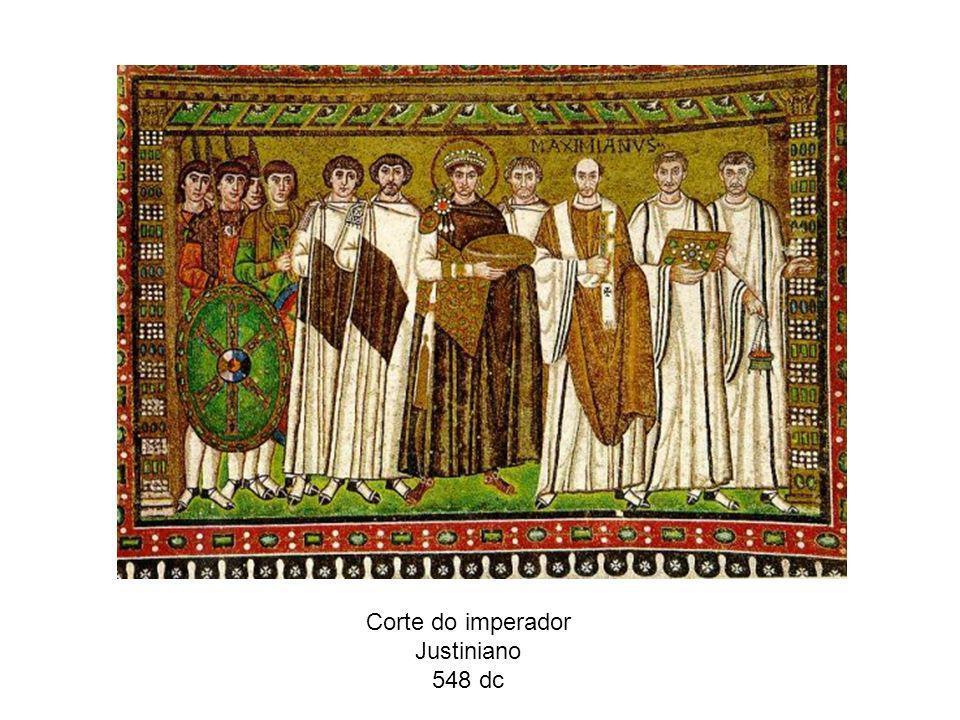 Corte do imperador Justiniano 548 dc