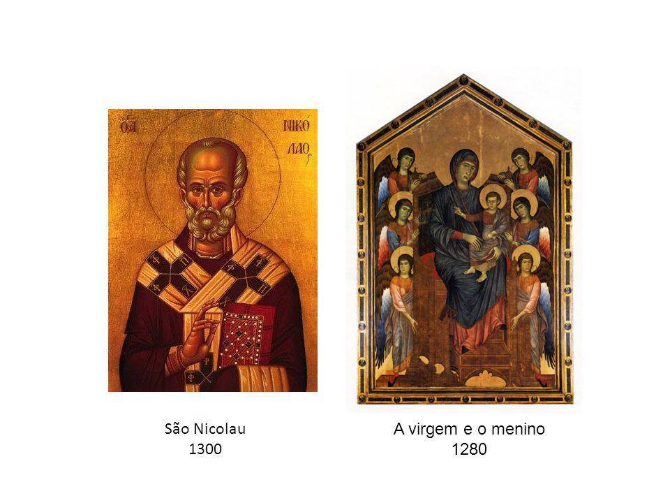 A virgem e o menino 1280 São Nicolau 1300