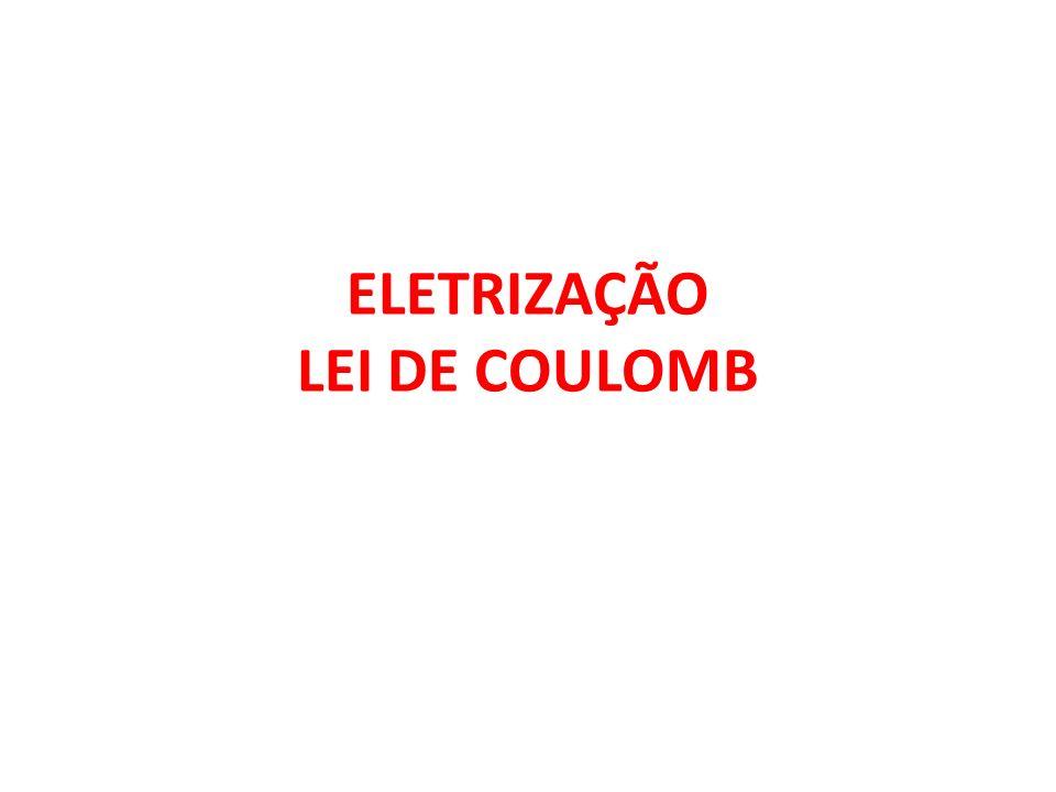 ELETRIZAÇÃO LEI DE COULOMB