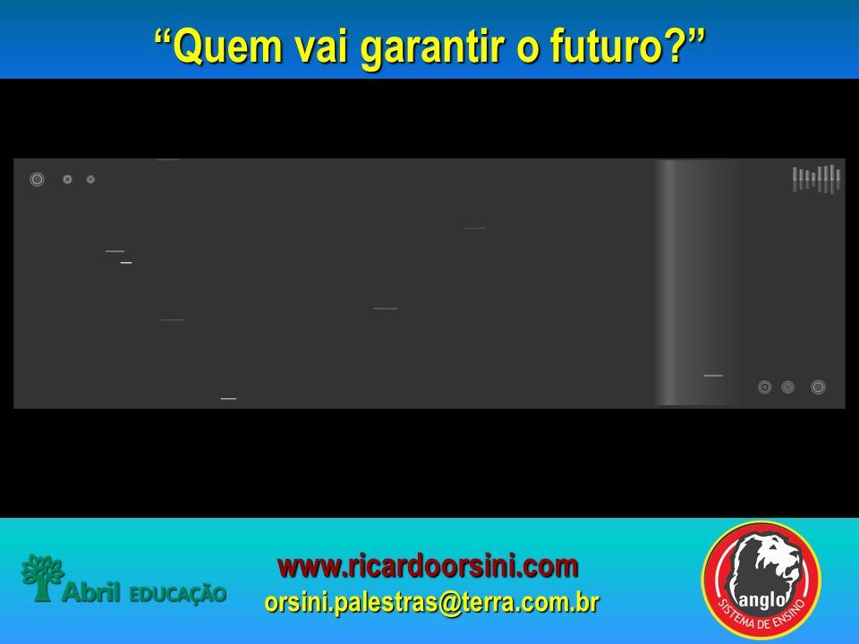 Quem vai garantir o futuro? www.ricardoorsini.com orsini.palestras@terra.com.br