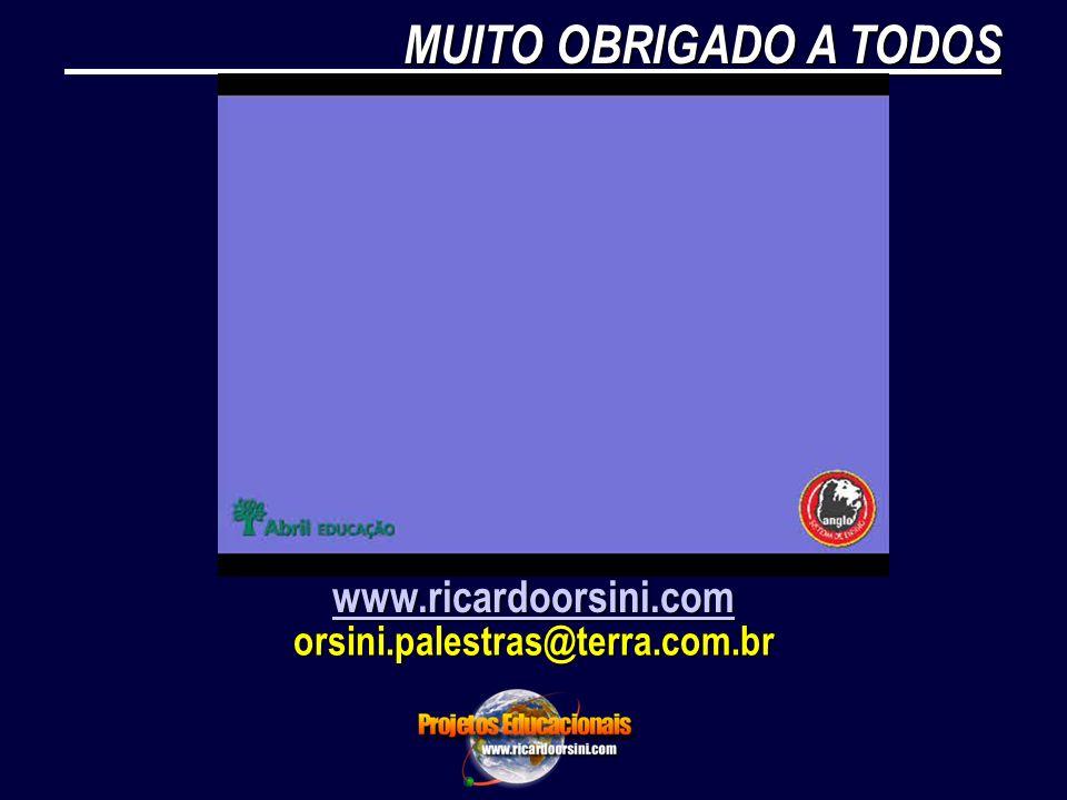 MUITO OBRIGADO A TODOS www.ricardoorsini.com orsini.palestras@terra.com.br