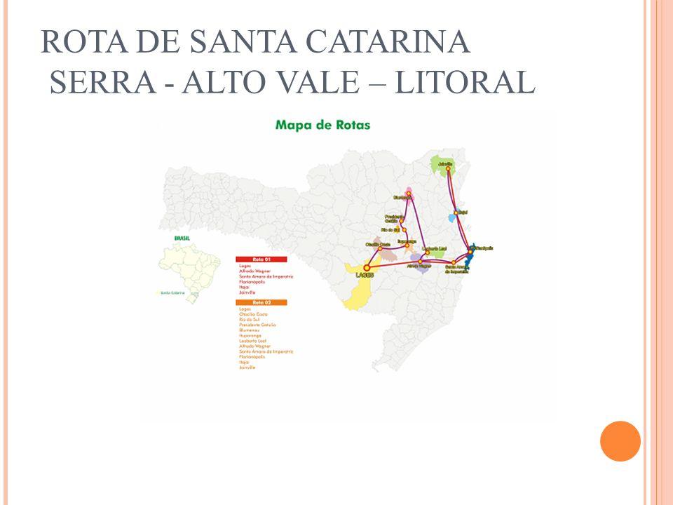 ROTA DE SANTA CATARINA SERRA - ALTO VALE – LITORAL