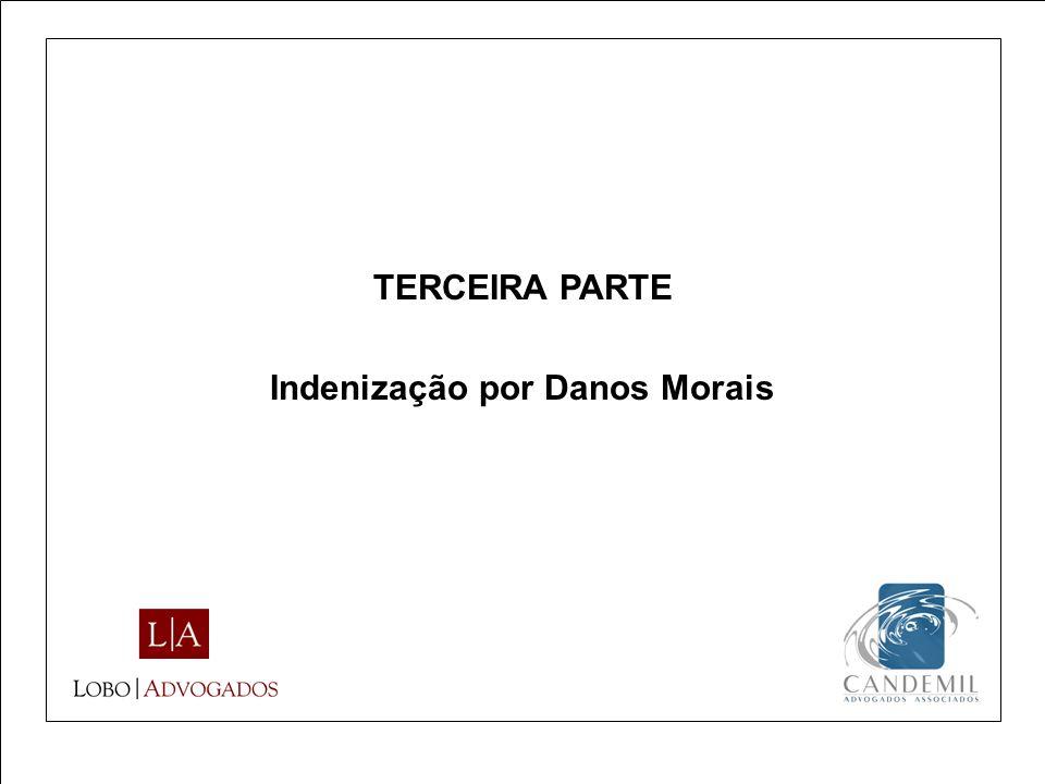 TERCEIRA PARTE Indenização por Danos Morais