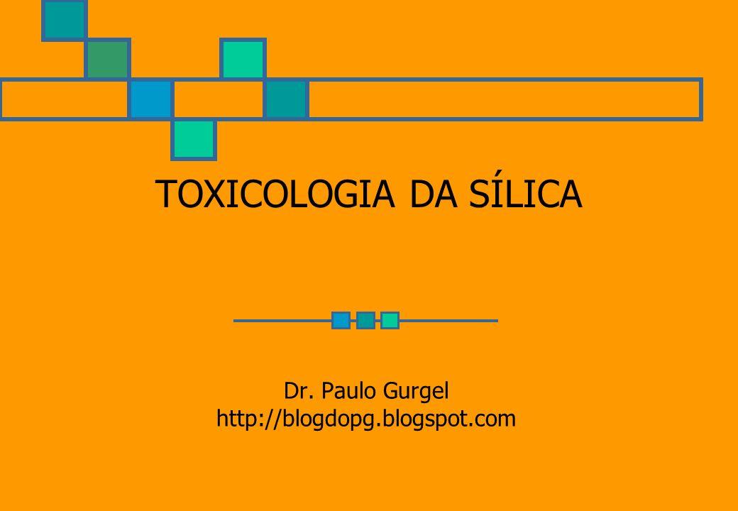 TOXICOLOGIA DA SÍLICA Dr. Paulo Gurgel http://blogdopg.blogspot.com