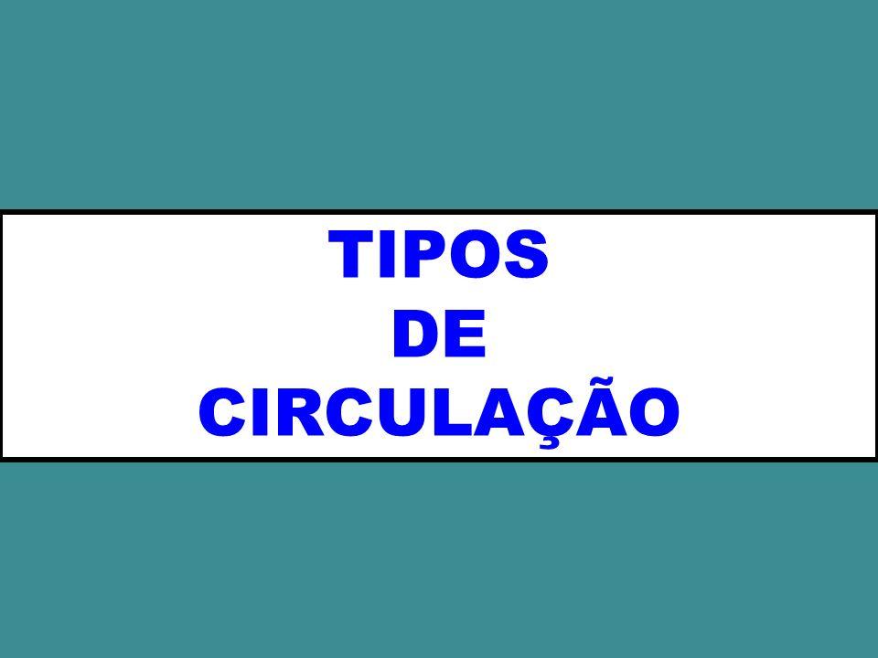 TIPOS DE CIRCULAÇÃO