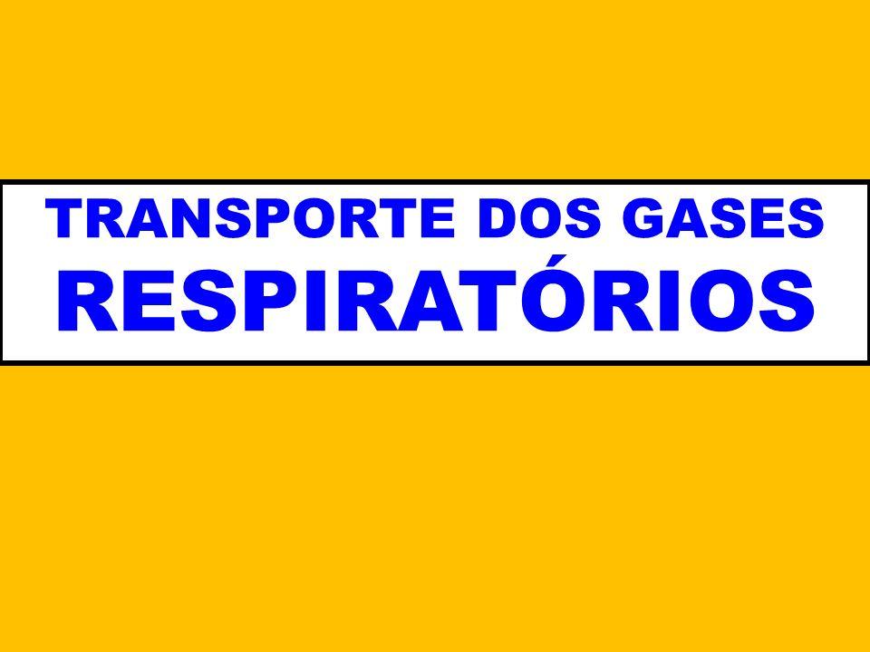 TRANSPORTE DOS GASES RESPIRATÓRIOS