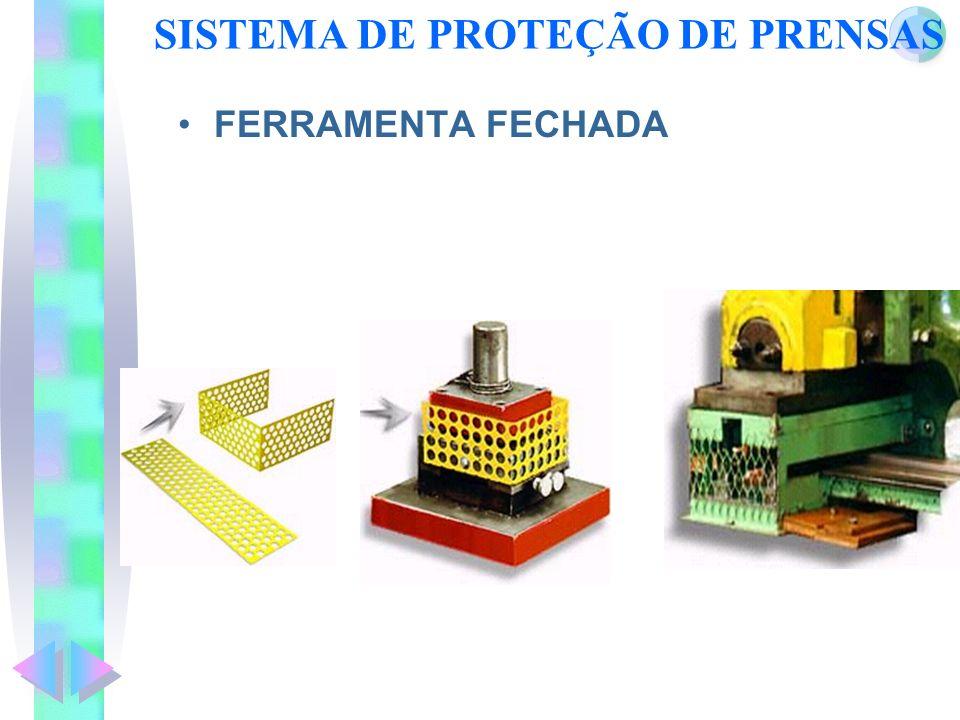 SISTEMA DE PROTEÇÃO DE PRENSAS FERRAMENTA FECHADA