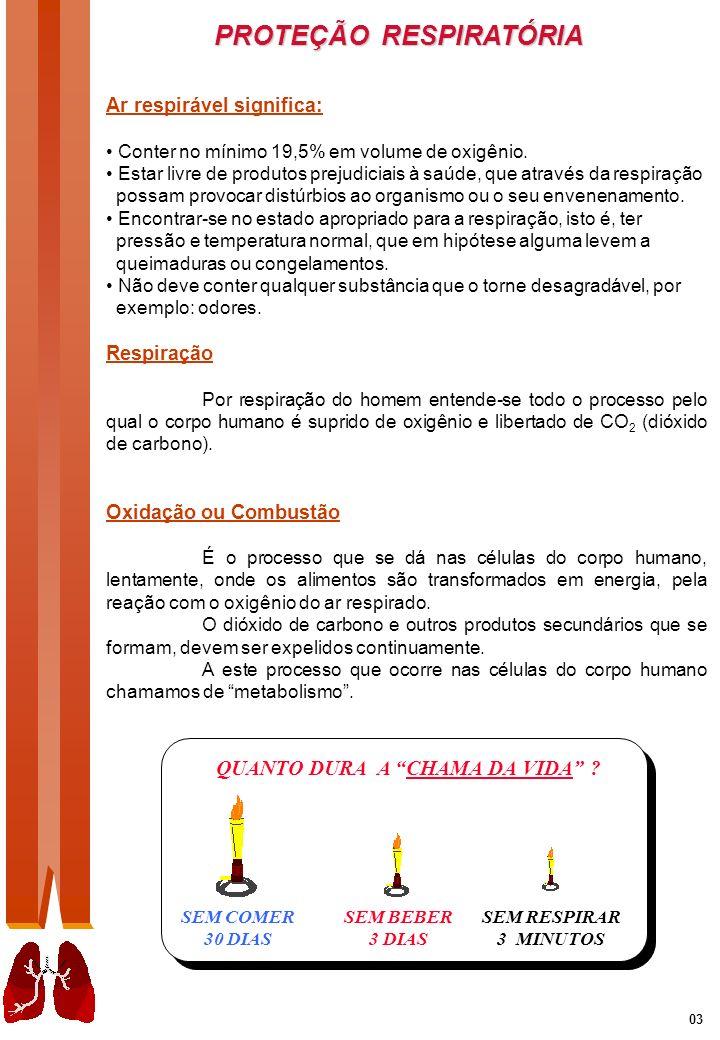 PROTEÇÃO RESPIRATÓRIA 04 Controle dos perigos respiratórios Num bom programa de proteção respiratória, é essencial a avaliação correta do perigo.