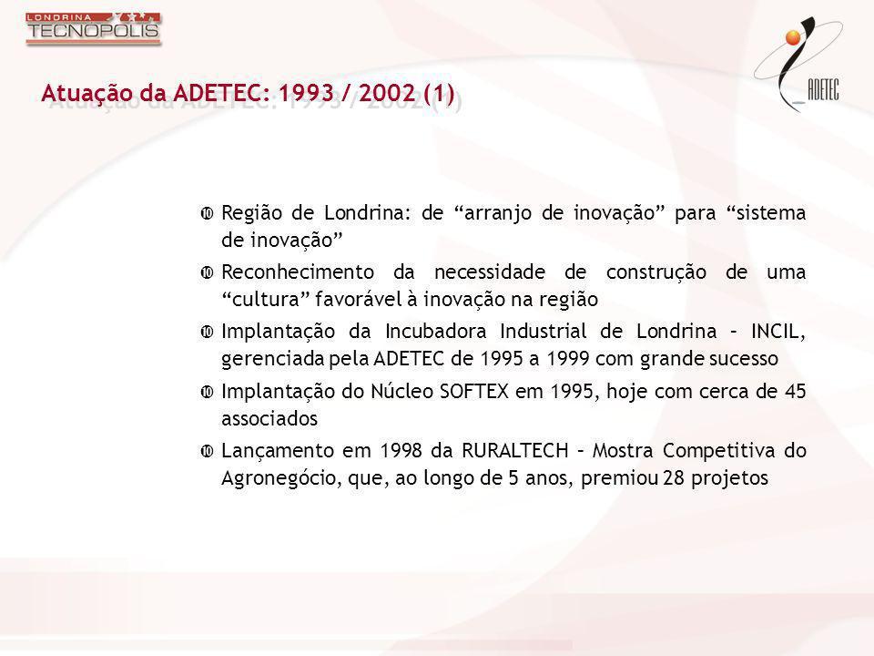 Região de Londrina: de arranjo de inovação para sistema de inovação Reconhecimento da necessidade de construção de uma cultura favorável à inovação na