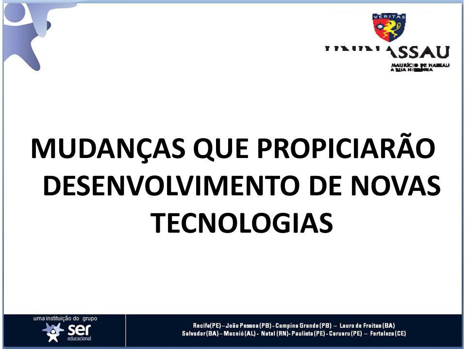 MUDANÇAS QUE PROPICIARÃO DESENVOLVIMENTO DE NOVAS TECNOLOGIAS