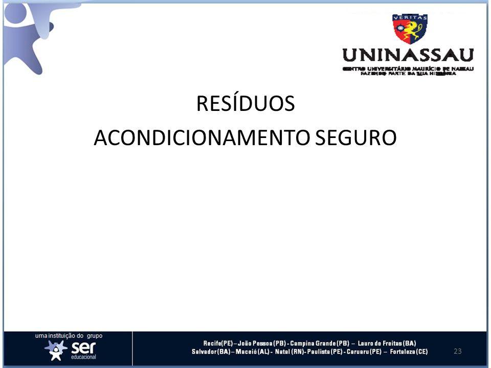 RESÍDUOS ACONDICIONAMENTO SEGURO 23