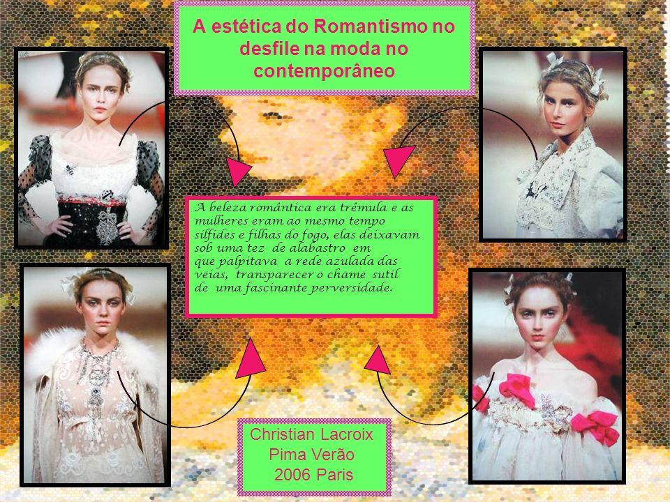 A beleza romântica era trêmula e as mulheres eram ao mesmo tempo sílfides e filhas do fogo, elas deixavam sob uma tez de alabastro em que palpitava a