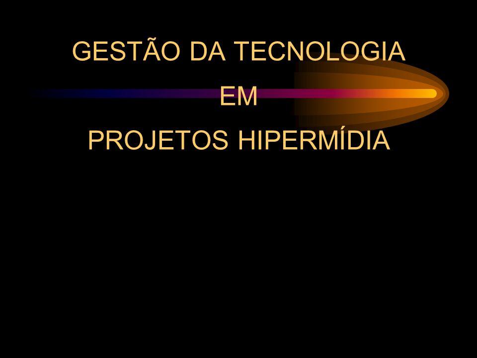 GESTÃO DA TECNOLOGIA EM PROJETOS HIPERMÍDIA 4.A Organização –4.2.