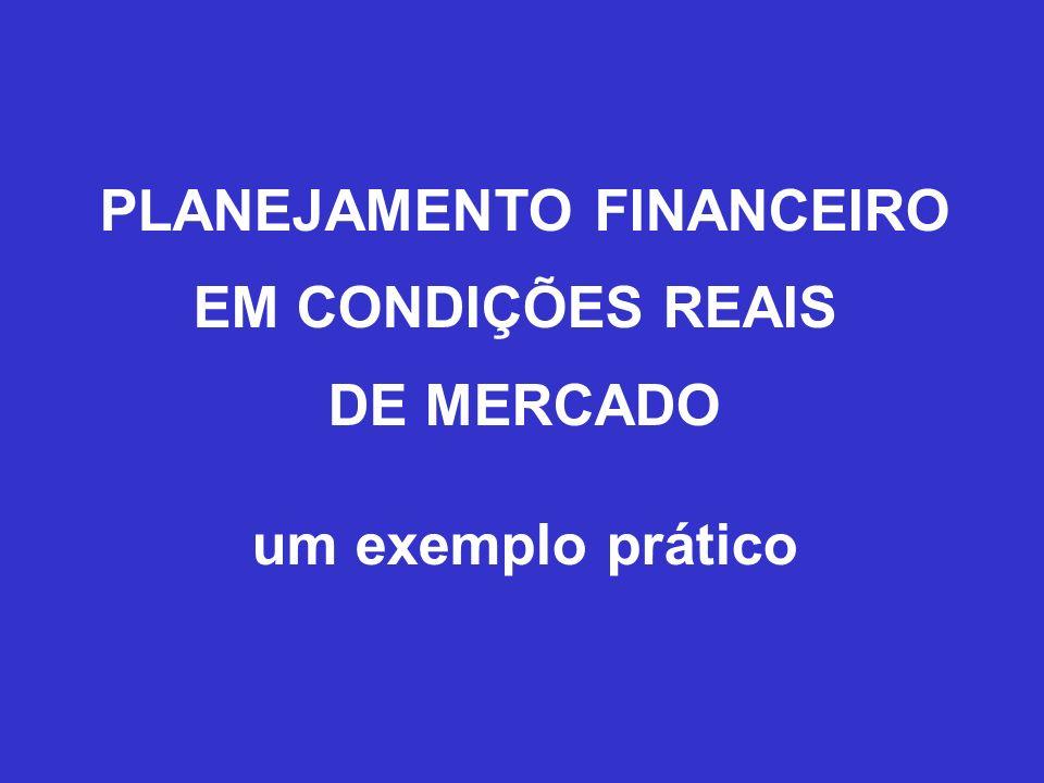 PLANEJAMENTO FINANCEIRO EM CONDIÇÕES REAIS DE MERCADO um exemplo prático