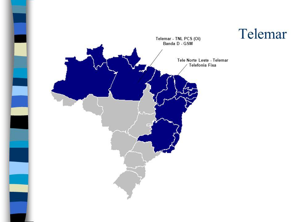 Telemar Telemar - TNL PCS (Oi) Banda D - GSM Tele Norte Leste - Telemar Telefonia Fixa