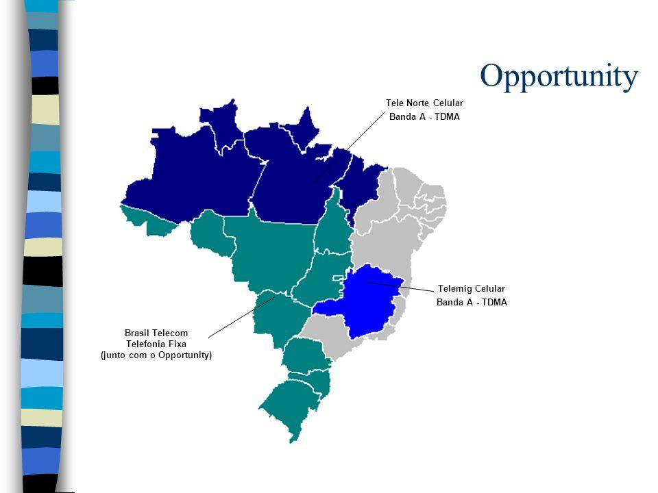 Opportunity Tele Norte Celular Banda A - TDMA Telemig Celular Banda A - TDMA Brasil Telecom Telefonia Fixa (junto com o Opportunity)