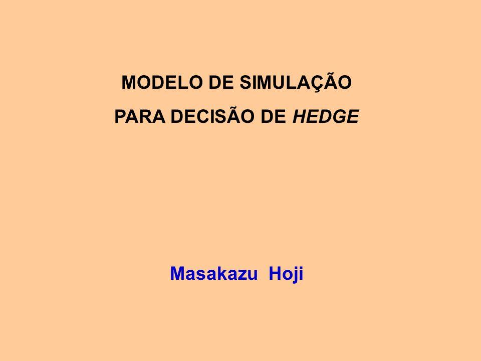 MODELO DE SIMULAÇÃO PARA DECISÃO DE HEDGE Masakazu Hoji
