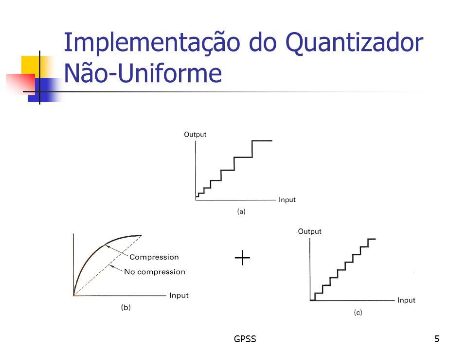 GPSS5 Implementação do Quantizador Não-Uniforme +