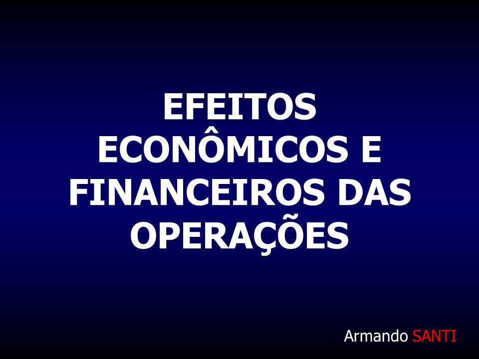 EFEITOS ECONÔMICOS E FINANCEIROS DAS OPERAÇÕES Armando SANTI