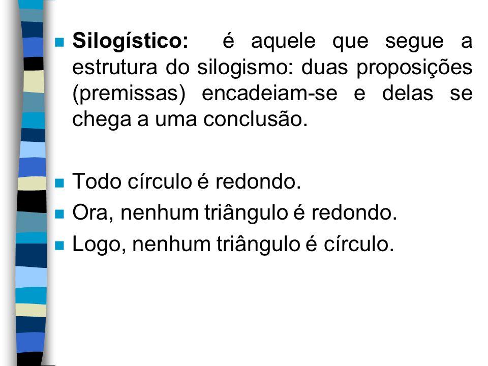 A Argumentação - tipos n 1.