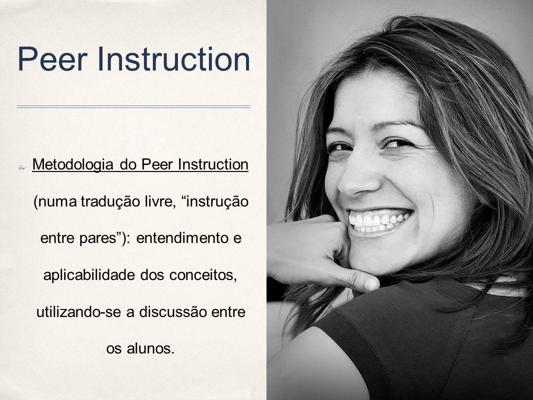 Peer Instruction Metodologia do Peer Instruction (numa tradução livre, instrução entre pares): entendimento e aplicabilidade dos conceitos, utilizando