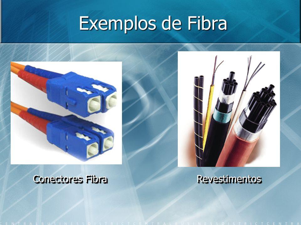 Exemplos de Fibra Conectores Fibra RevestimentosRevestimentos