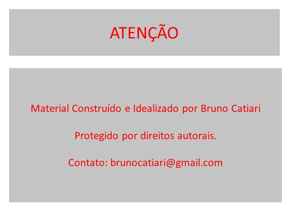 ATENÇÃO Material Construído e Idealizado por Bruno Catiari Protegido por direitos autorais.