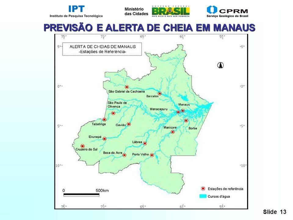Slide 13 PREVISÃO E ALERTA DE CHEIA EM MANAUS