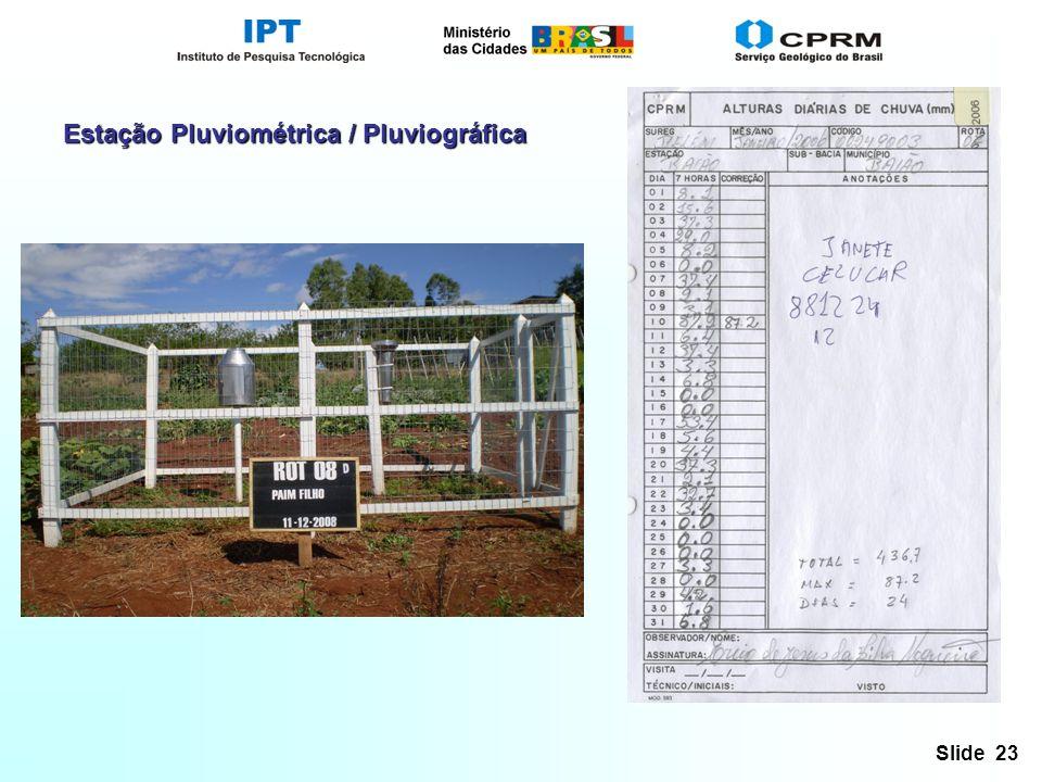 Slide 23 Estação Pluviométrica / Pluviográfica
