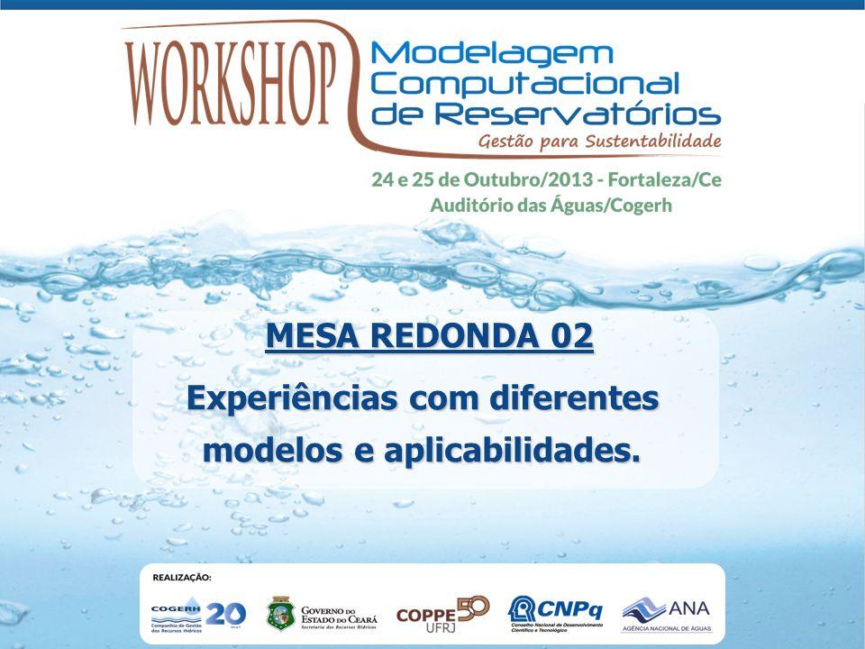 Experiências com diferentes modelos e aplicabilidades. MESA REDONDA 02