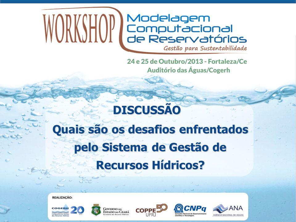 Quais são os desafios enfrentados pelo Sistema de Gestão de Recursos Hídricos? DISCUSSÃO