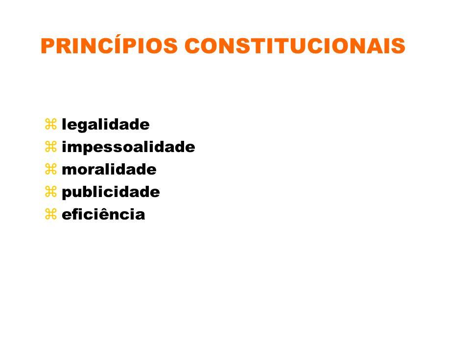 PRINCÍPIOS LICITATÓRIOS zigualdade zprobidade administrativa zvinculação ao instrumento convocatório zjulgamento objetivo