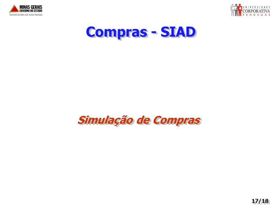 Compras - SIAD Simulação de Compras 17/18